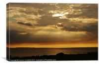 From Woolacombe to Lundy, Canvas Print