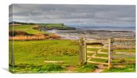 View Across Kilve Beach, Canvas Print