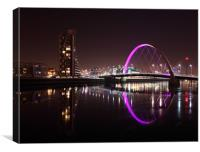 Glasgow Clyde Arc at Night, Canvas Print