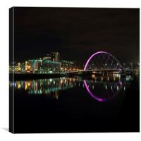 Clyde Arc Bridge by Night, Canvas Print