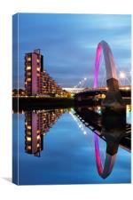 Glasgow Clyde Arc Bridge Reflections, Canvas Print