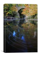 River Braan by The Hermitage, Canvas Print
