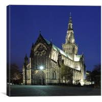 Glasgow Cathedral at Twilight, Canvas Print