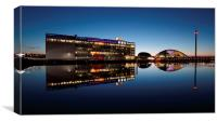 Glasgow River Clyde Reflections at Twilight, Canvas Print