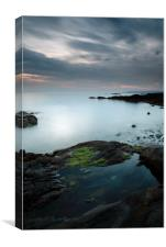 Rock pool by the Sound of Jura at Sunset, Canvas Print