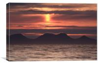 Red Sunset over Sound of Jura, Canvas Print