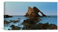 Sunset by Bow Fiddle Rock, Canvas Print