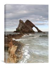 A Day by Bow Fiddle Rock, Canvas Print