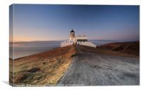 Stoer Lighthouse at Sunset, Canvas Print
