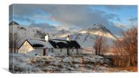 Blackrock Cottage in Winter, Canvas Print