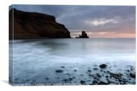 Talisker Sea Stack at Sunset, Canvas Print
