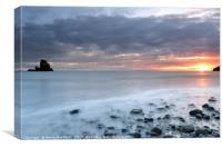Talisker Bay at Sunset, Canvas Print