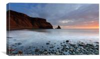 Sun lighting up Talisker Point at Sunset, Canvas Print