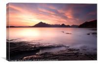 Elgol Sunset, Canvas Print