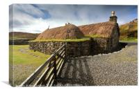 Thatched Blackhouse, Isle of Lewis, Canvas Print