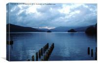 Lake Windermere at dusk, Canvas Print