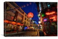 Night in Chinatown, London, Canvas Print