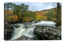 Waterfall in the Scottish Highlands, Canvas Print