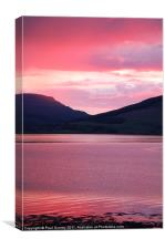 Sunset over Mull, Canvas Print