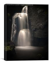 Lumsdale Valley Top Waterfall, Canvas Print