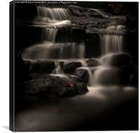 Lumsdale Valley Waterfalls, Canvas Print