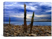 Waterfront Wreckage, Canvas Print