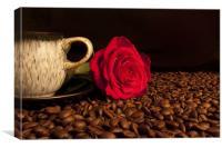 Love Coffee 2, Canvas Print