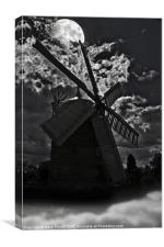 Heage Windmill - Haunted By Moonlight, Canvas Print