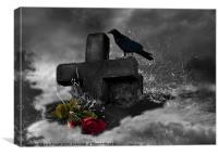 Haunted Grave, Canvas Print