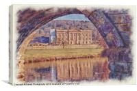 Chatsworth House Bridge, Canvas Print