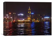 HONK KONG BY NIGHT, Canvas Print