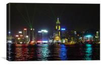 HONG KONG LASER SHOW, Canvas Print