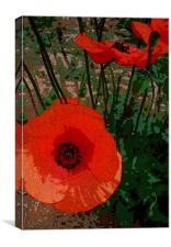 POPPY POWER 2, Canvas Print