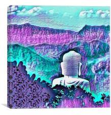 AQUARIUM BUDDHA, Canvas Print