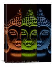 BUDDHA THREE, Canvas Print
