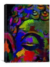 COLOUR WISE - BUDDHA, Canvas Print