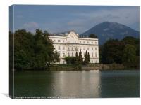 Schloss Leopoldskron - Salzburg, Canvas Print