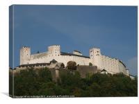 Festung Hohensalzburg, Canvas Print