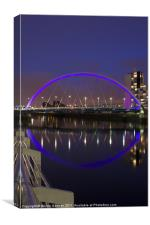 Bridge Glasgow Clyde, Canvas Print