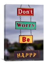 Don't Worry Be Happy, Canvas Print
