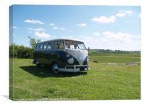 VW Camper in The Sun, Canvas Print