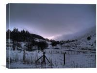 Snowy Beacons, Canvas Print