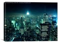 New York City at night, Canvas Print