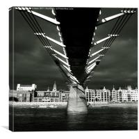 The Millennium Bridge, Canvas Print