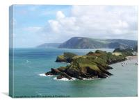 Watermouth headland, Canvas Print