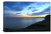 South Devon Sunset, Canvas Print
