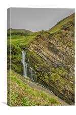 Hartland Waterfall, Canvas Print