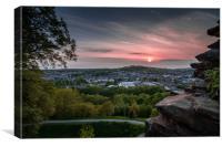 Kendal Sunset, Cumbria, Canvas Print