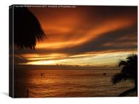 Sunset Sosua, Canvas Print