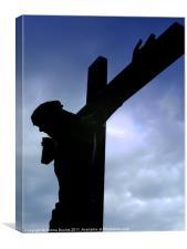 Crucifix Silohuette, Canvas Print
